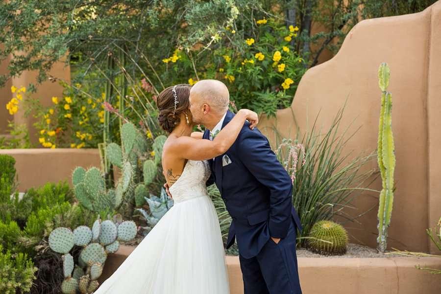 Liz and Jeremy: Phoenix Wedding Photography bride groom first look