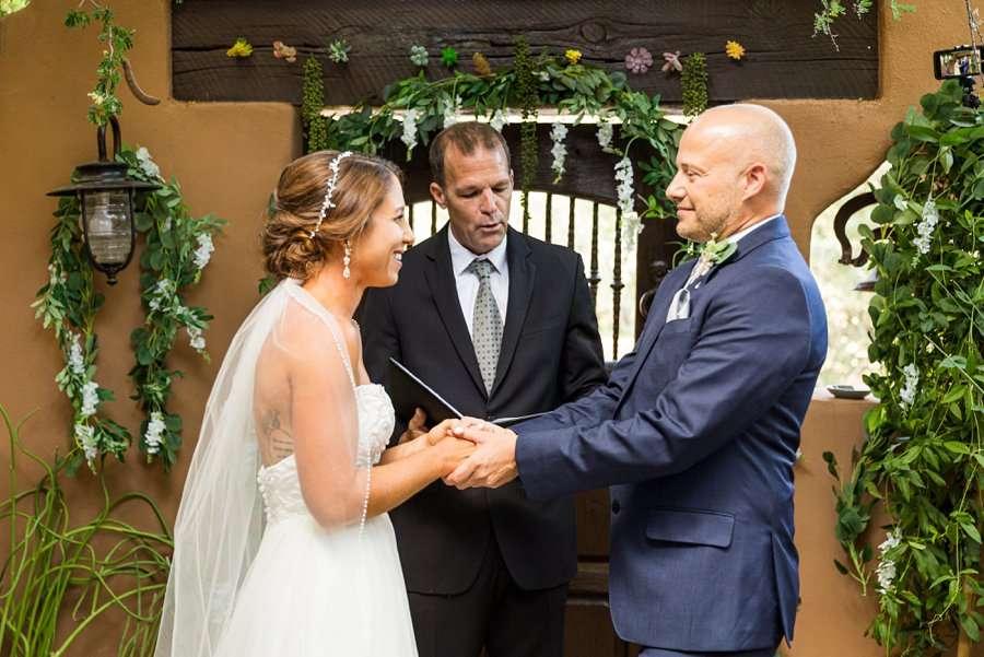 Liz and Jeremy: Phoenix Wedding Photography intimate ceremony