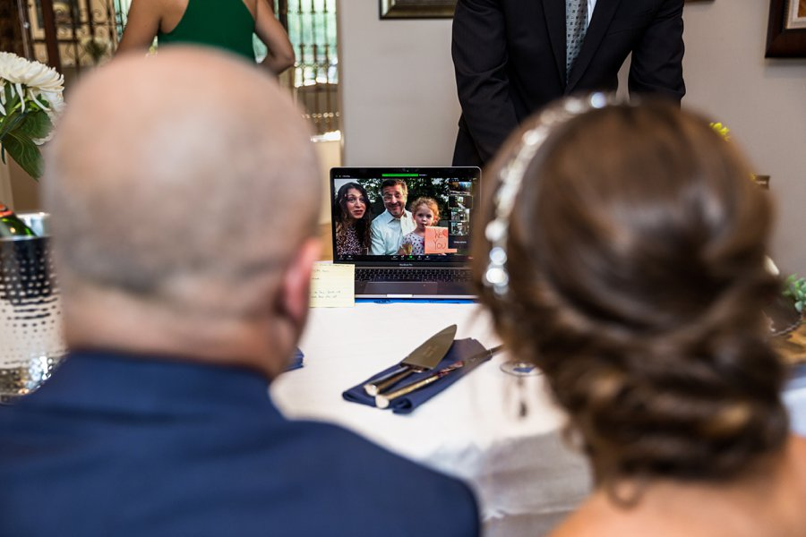 Liz and Jeremy: Phoenix Wedding Photography zoom ceremony