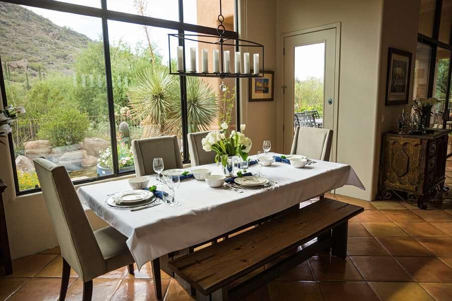 Liz and Jeremy: Arizona Elopement Photographers intimate dinner ideas