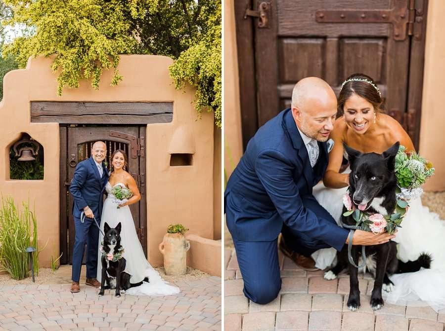 Liz and Jeremy: Phoenix Wedding Photography dog of honor