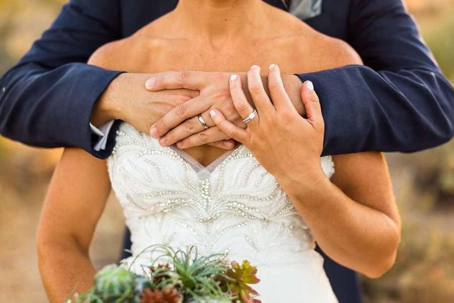 Liz and Jeremy: Arizona Elopement Photographers rings