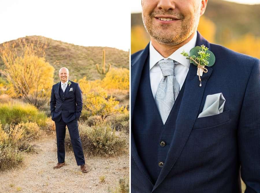 Liz and Jeremy: Phoenix Wedding Photography cave creek groom