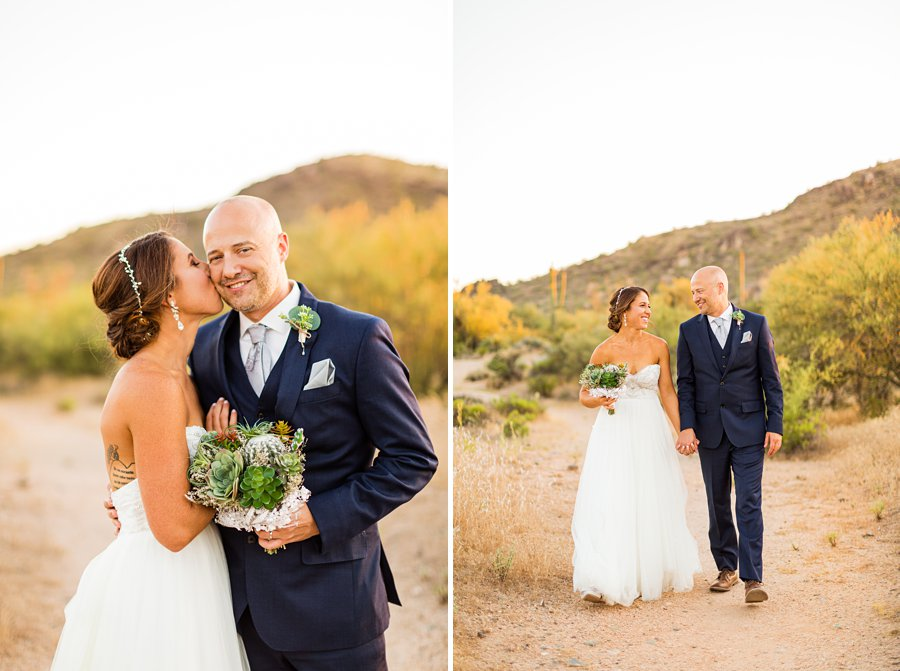 Liz and Jeremy: Phoenix Wedding Photography kisses for the groom