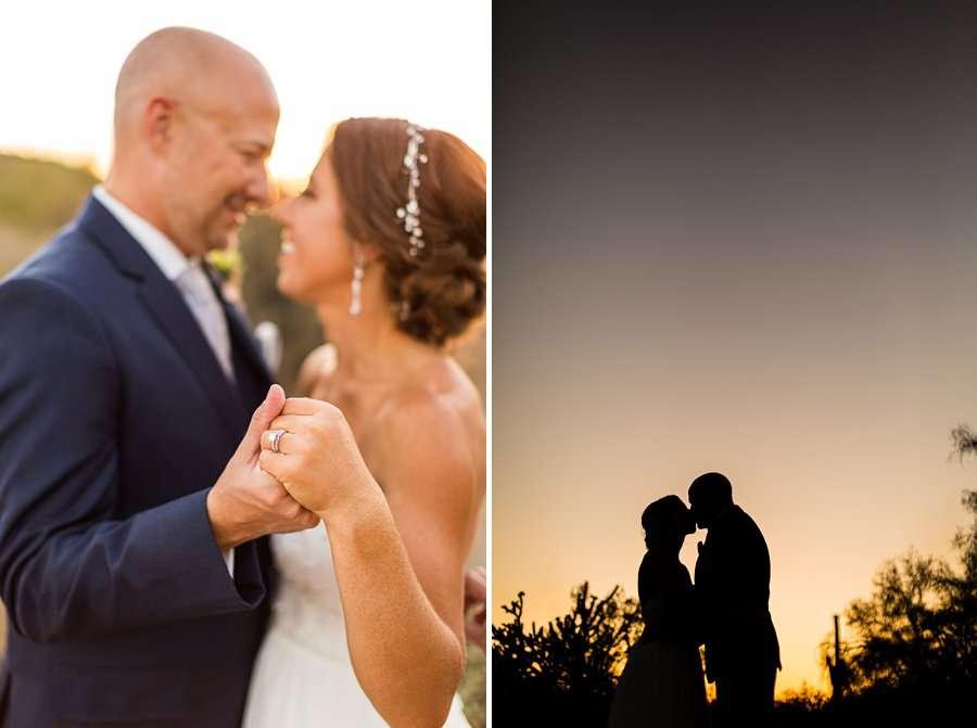 Liz and Jeremy: Phoenix Wedding Photography sunset silhouette