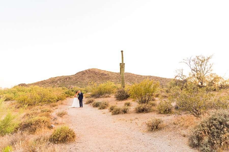 Liz and Jeremy: Phoenix Wedding Photography landscape for sunset