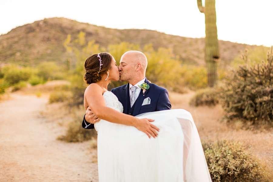 Liz and Jeremy: Phoenix Wedding Photography fireman carry