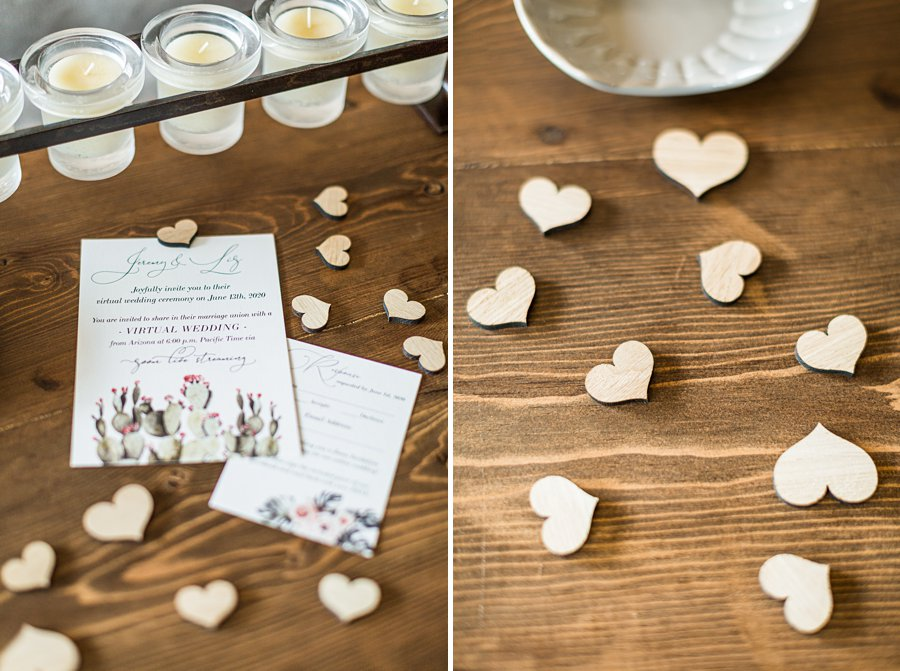 Liz and Jeremy: Arizona Elopement Photographers wooden hearts