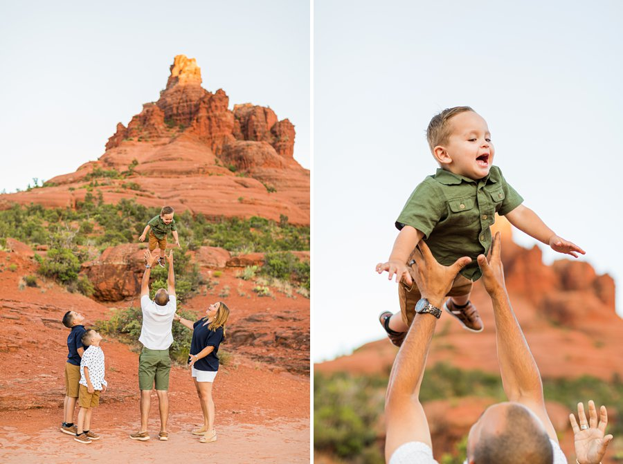 Moreno Family: Sedona Destination Portrait Photographer red rocks sessions