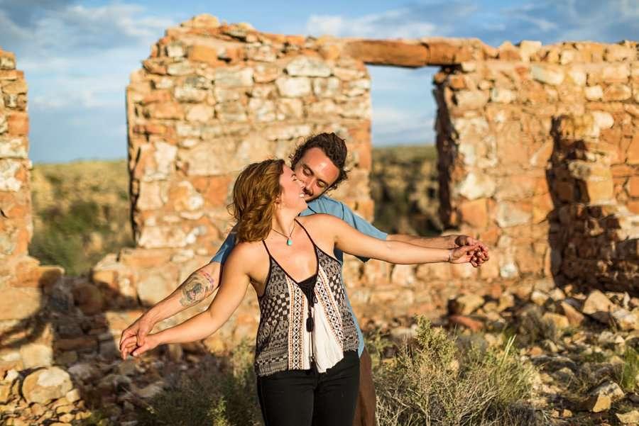 Rachel and Budda: Flagstaff AZ Adventure Photographer flying