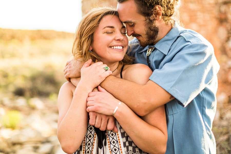 Rachel and Budda: Flagstaff AZ Adventure Photographer snuggles