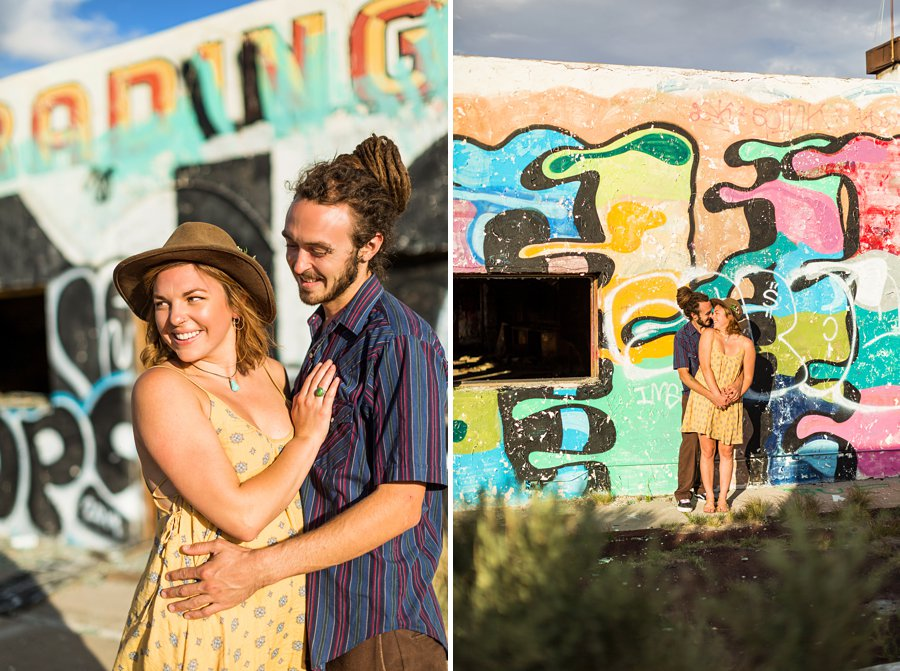 Rachel and Budda: Northern Arizona Ghost Town Engagement Photography destinations