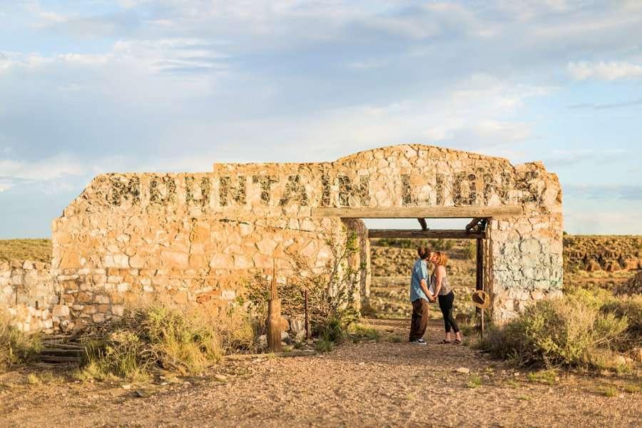 Rachel and Budda: Flagstaff AZ Adventure Photographer abandoned ruins