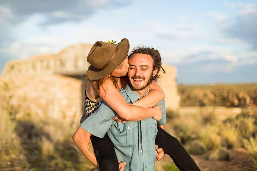 Rachel and Budda: Flagstaff AZ Adventure Photographer best poses portraits