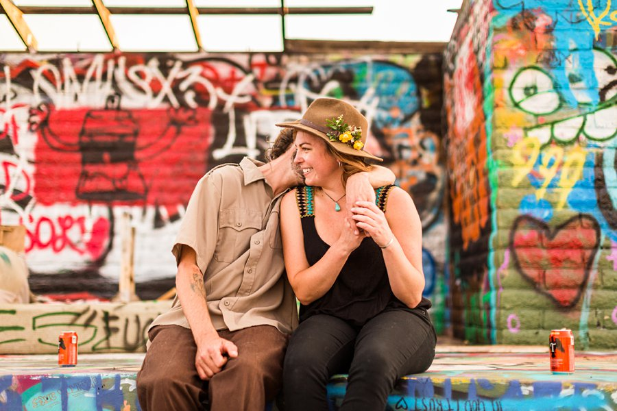 Rachel and Budda: Flagstaff AZ Adventure Photographer colorful pool