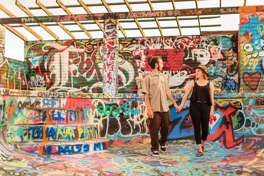 Rachel and Budda: Flagstaff AZ Adventure Photographer abandoned building
