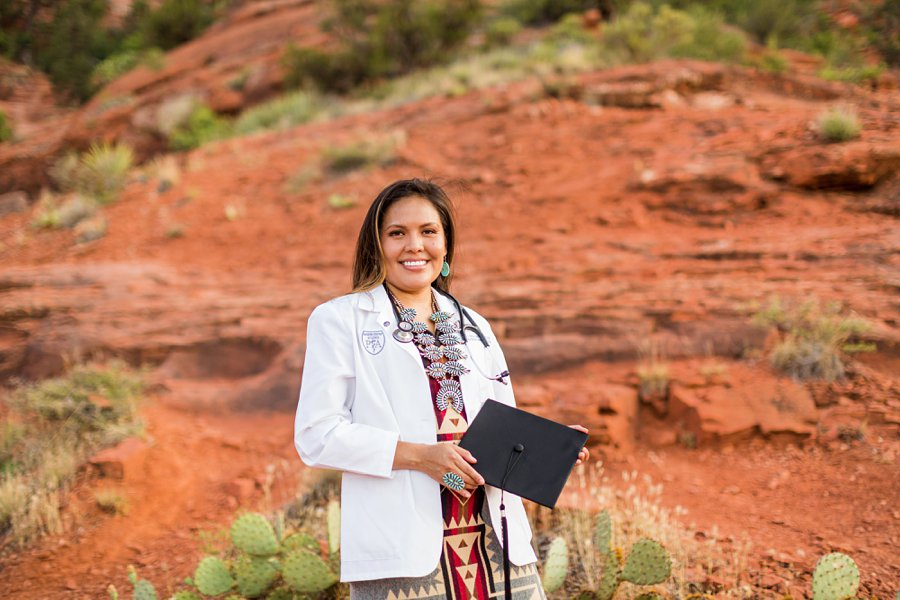 Shalene and Kylie: Sedona AZ Graduation Photography smiling