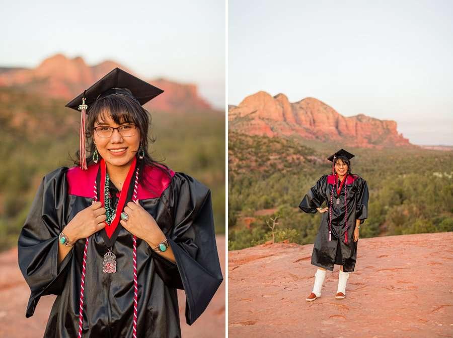 Shalene and Kylie: Arizona Senior Portrait Photographer woman in red rocks