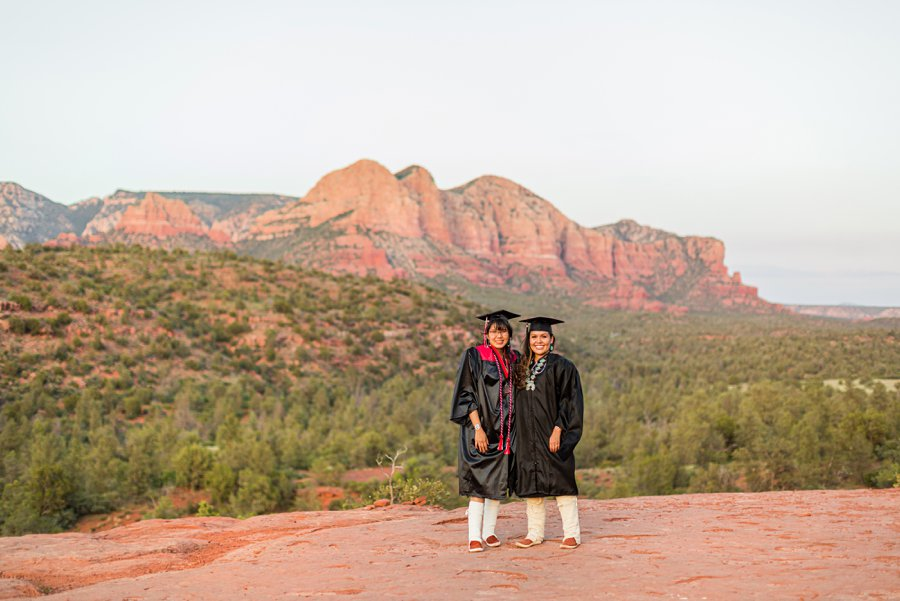Shalene and Kylie: Arizona Senior Portrait Photographer sisters graduating together