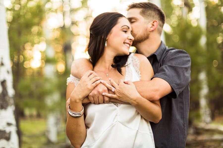 Trish and Mike: Flagstaff Arizona Engagement Session lifestyle poses