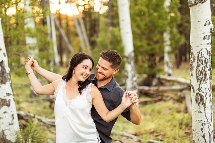 Trish and Mike: Flagstaff Arizona Engagement Session best poses for couples