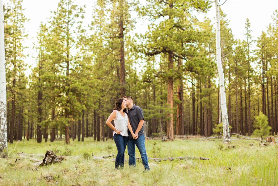 Trish and Mike: Flagstaff Arizona Engagement Session forest locations