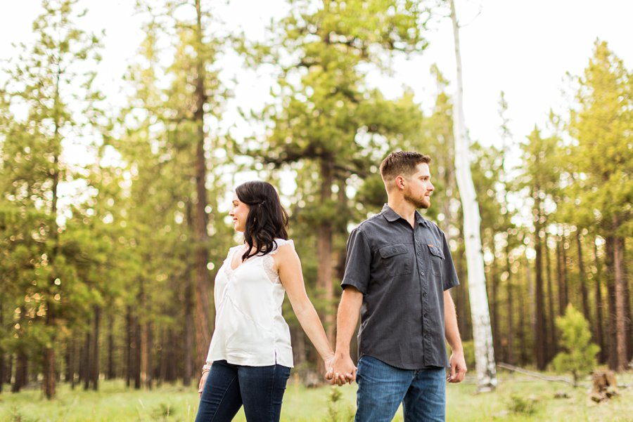 Trish and Mike: Flagstaff Arizona Engagement Session creative and colorful