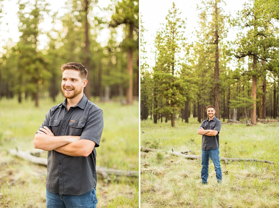 Trish and Mike: Northern Arizona Portrait Photographers forest locations
