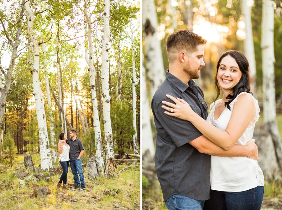 Trish and Mike: Flagstaff Arizona Engagement Session best places to see aspen trees