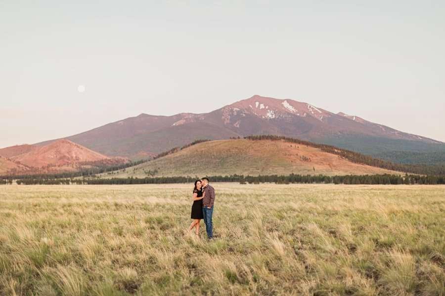 Trish and Mike: Northern Arizona Portrait Photographers mountain views