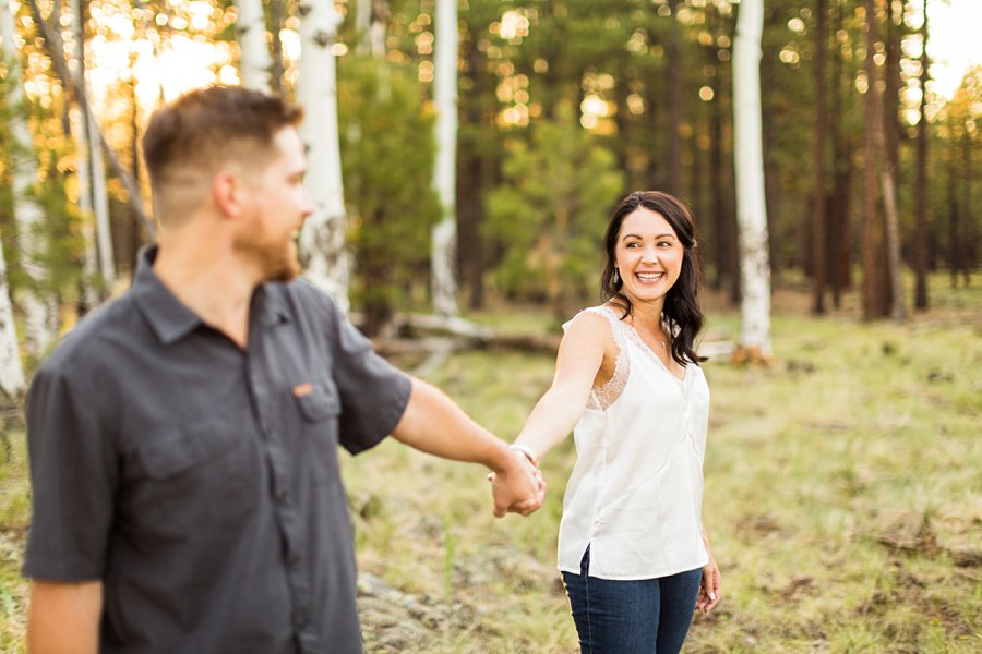 Trish and Mike: Flagstaff Arizona Engagement Session highest reviewed in arizona