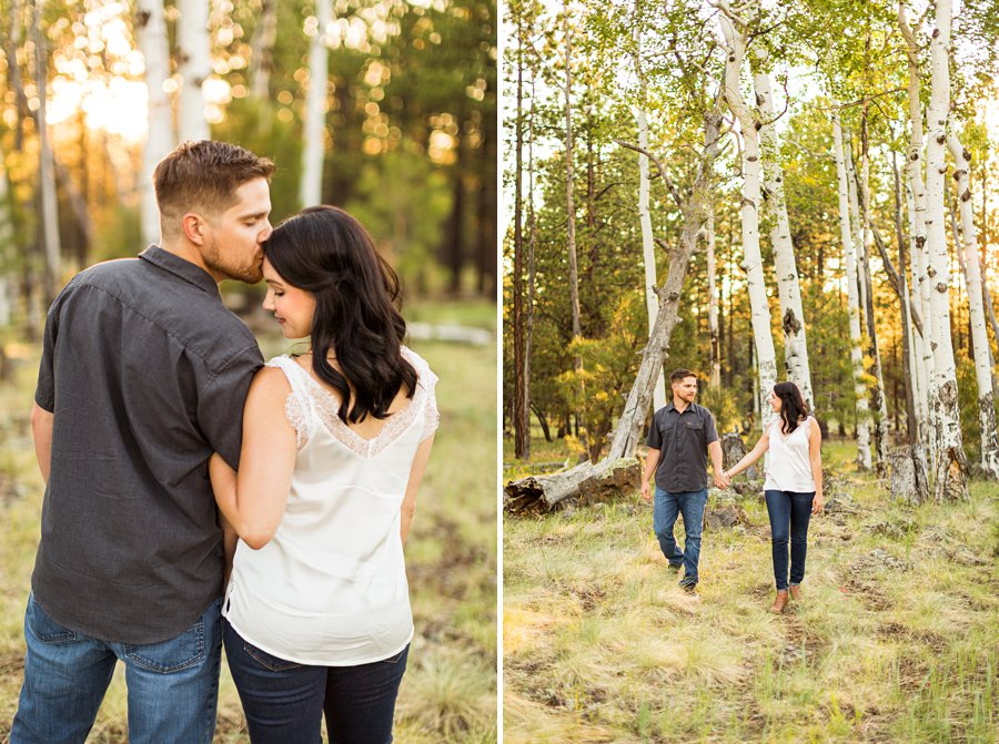 Trish and Mike: Flagstaff Arizona Engagement Session wedding and elopements