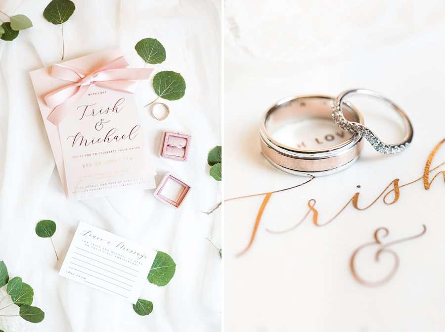 Trish and Mike: Flagstaff Ranch Weatherford Wedding macro wedding rings