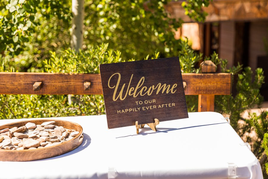 Trish and Mike: Downtown Northern Arizona Elopement welcome table