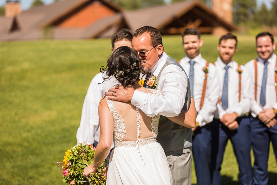 Trish and Mike: Downtown Northern Arizona Elopement giving away the bride