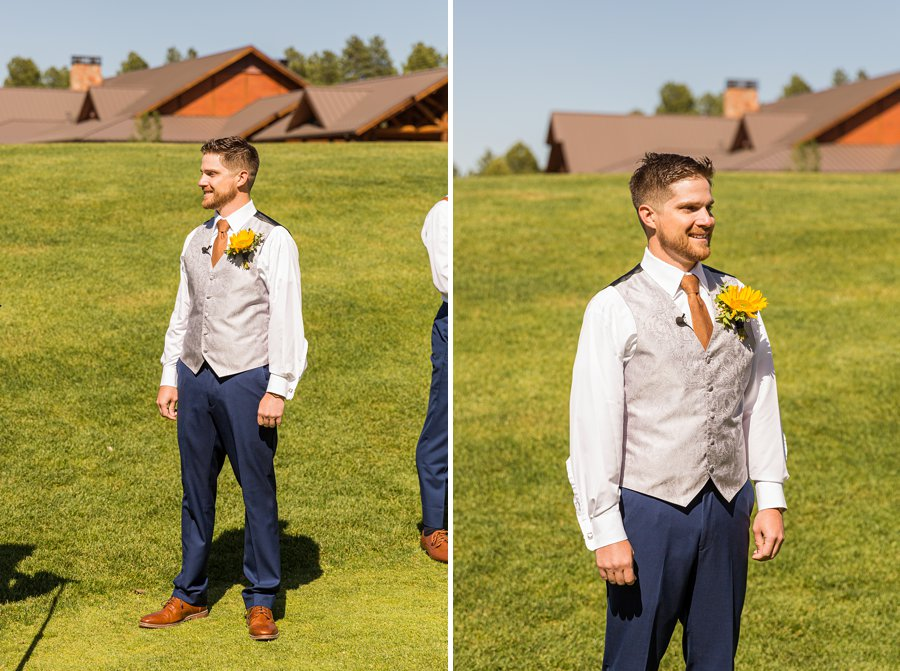 Trish and Mike: Downtown Northern Arizona Elopement the first look