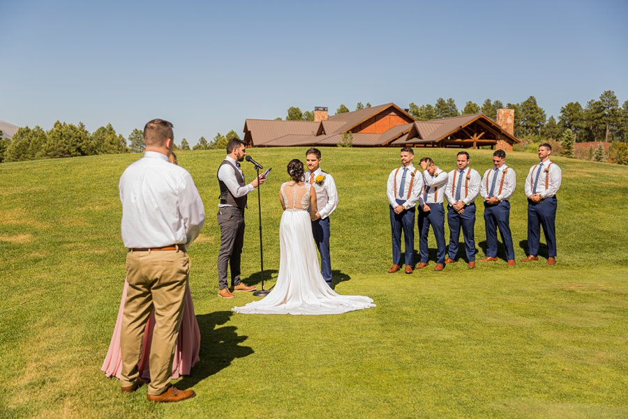 Trish and Mike: Downtown Northern Arizona Elopement ceremony site