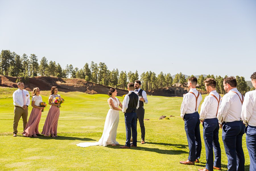 Trish and Mike: Downtown Northern Arizona Elopement golf course wedding