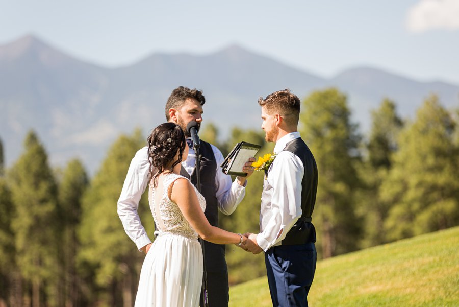 Trish and Mike: Downtown Northern Arizona Elopement the couple