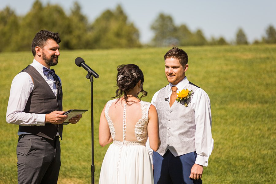 Trish and Mike: Downtown Northern Arizona Elopement groom in love