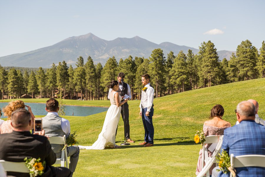 Trish and Mike: Downtown Northern Arizona Elopement the peaks golf course