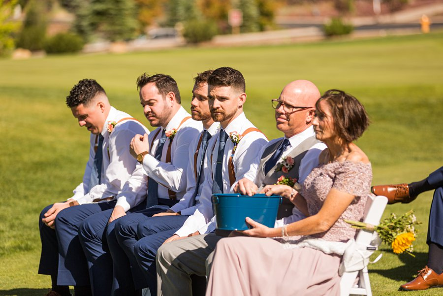 Trish and Mike: Downtown Northern Arizona Elopement rocks of love