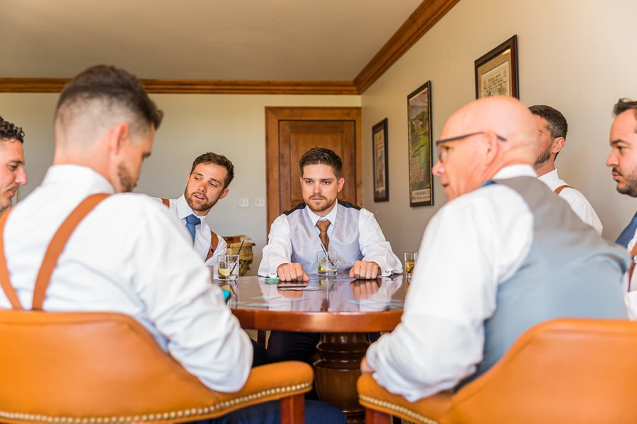 Trish and Mike: Flagstaff Ranch Weatherford Wedding guys getting ready