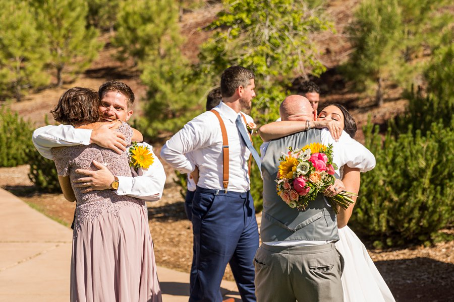 Trish and Mike: Downtown Northern Arizona Elopement giving hugs