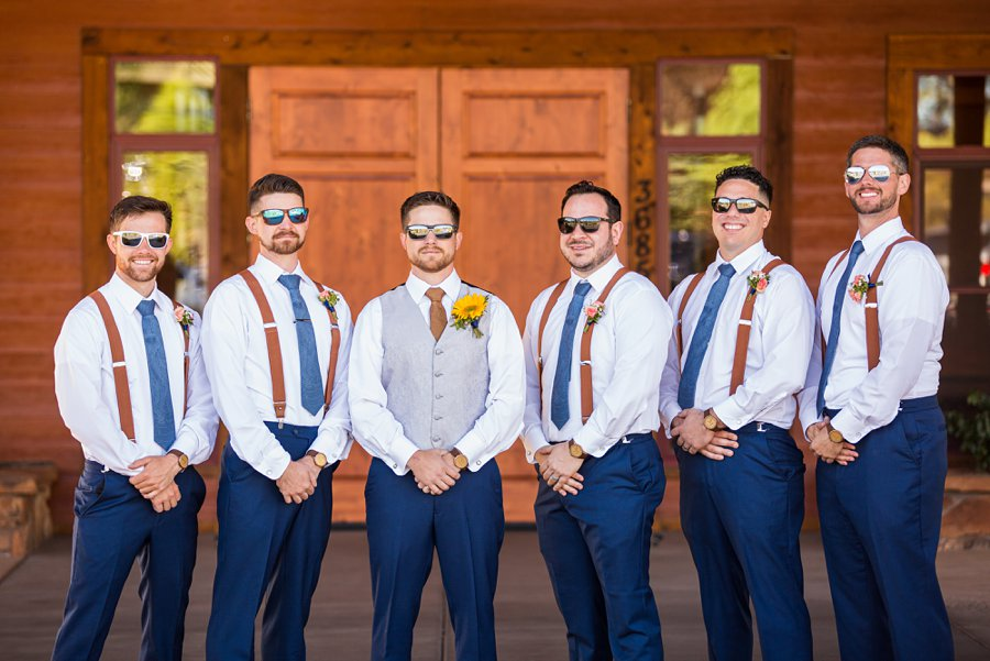 Trish and Mike: Downtown Northern Arizona Elopement cool groomsmen