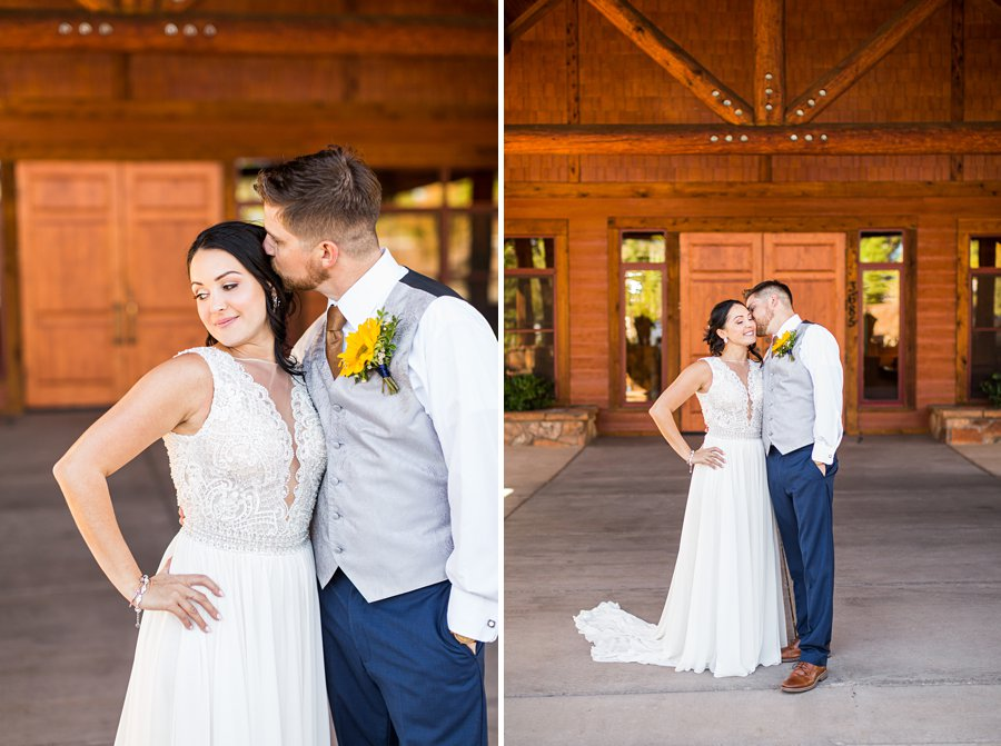 Trish and Mike: Downtown Northern Arizona Elopement intimate poses for couple