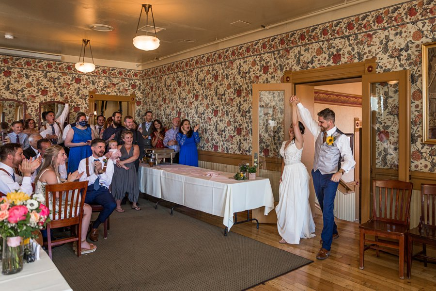 Trish and Mike: Downtown Northern Arizona Elopement grand entrance
