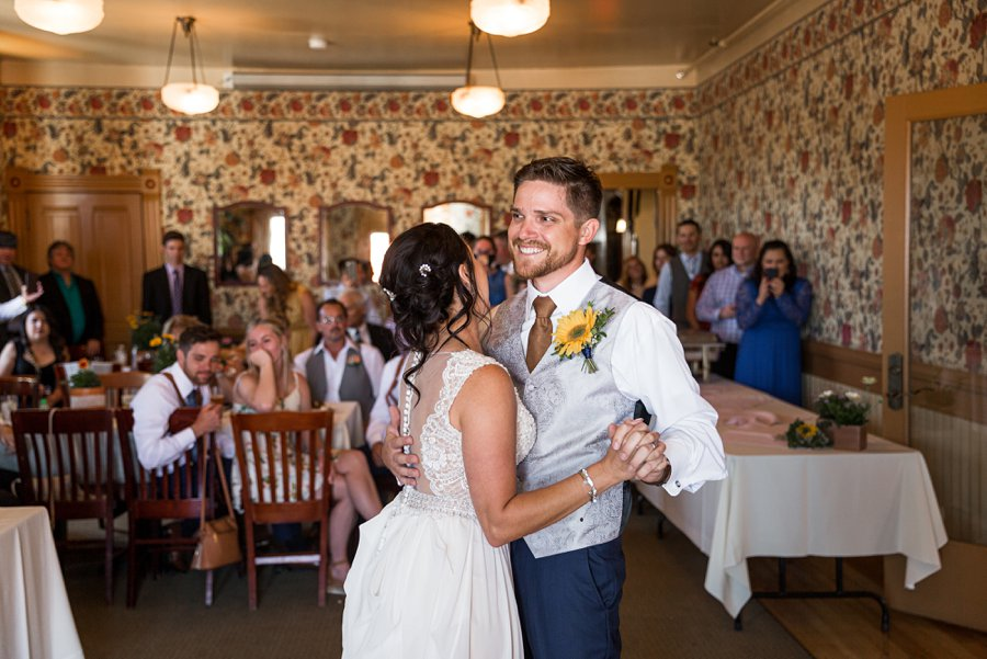 Trish and Mike: Downtown Northern Arizona Elopement the first dance