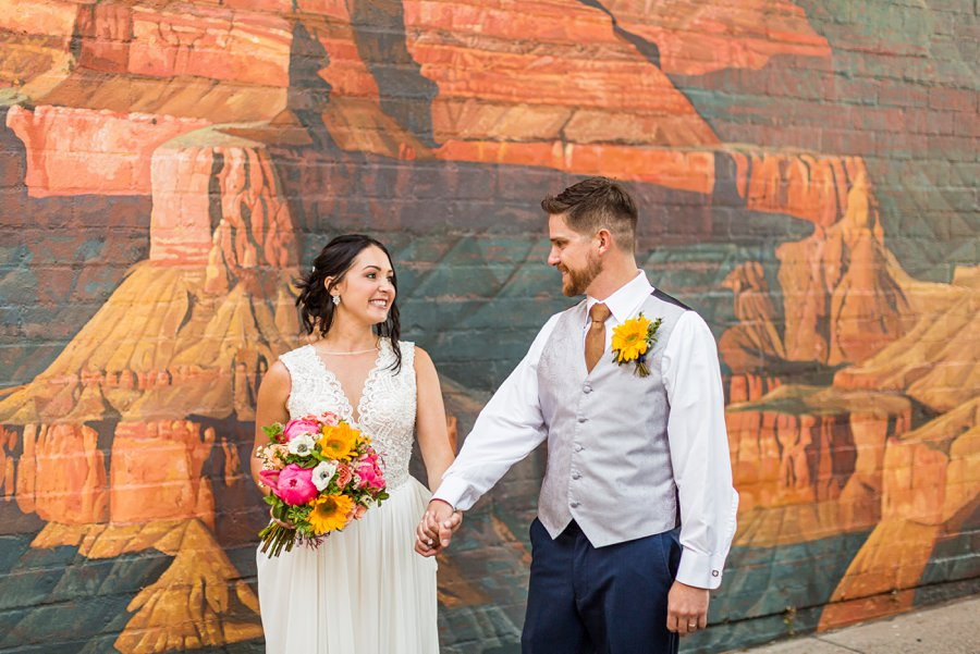 Trish and Mike: Downtown Northern Arizona Elopement grand canyon