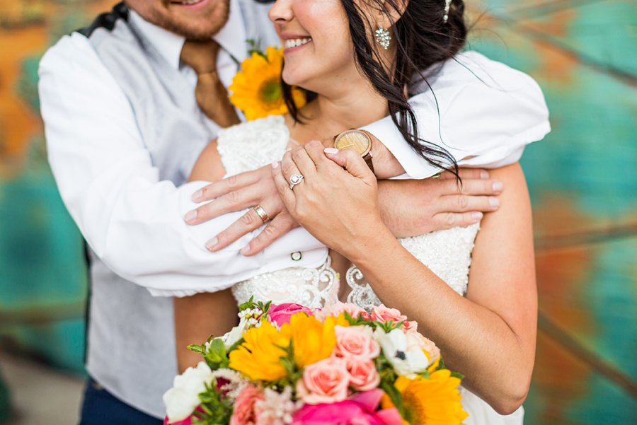 Trish and Mike: Flagstaff Ranch Weatherford Wedding ring shot